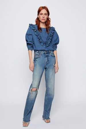 26b8b658 Buy Zara Straight Jeans for Women Online | FASHIOLA.ph | Compare & buy