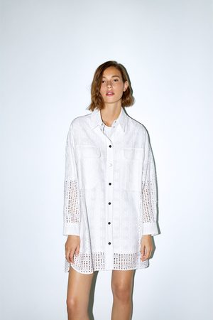 Zara Shirt with cutwork embroidery