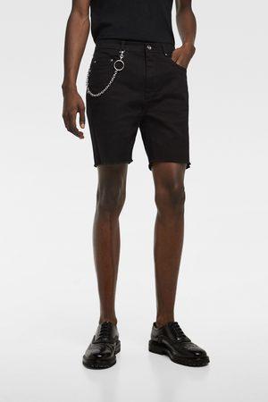Zara Denim bermuda shorts with chain