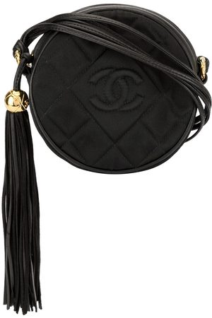 CHANEL Quilted round fringe crossbody bag
