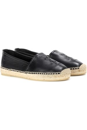 Saint Laurent Women Loafers - Leather slip-on loafers
