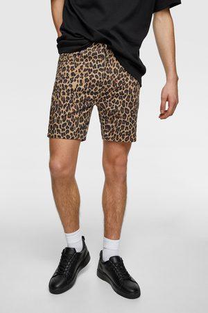 Zara Animal print bermuda shorts