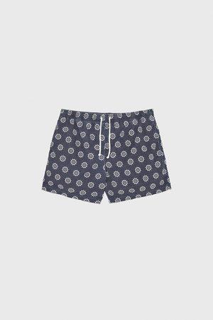 Zara Helm wheel print swimming trunks