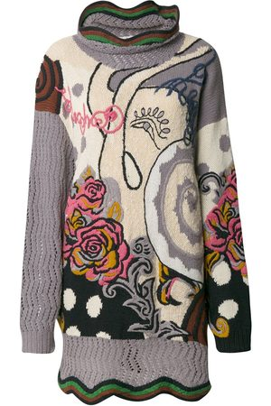 KANSAI YAMAMOTO Women Jumpers - Floral embroidered knitted jumper