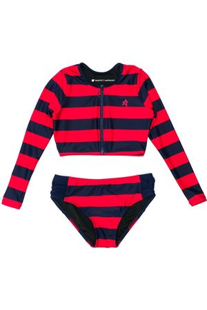 Perfect Moment Striped longsleeved bikini set