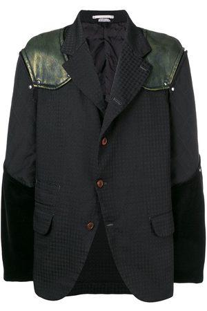 Comme des Garçons Men Blazers - Mixed fabric blazer