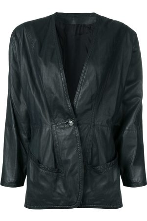 VERSACE 1980's leather jacket