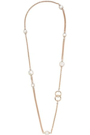 Pomellato 18kt rose and gold Nudo mother-of-pearl, topaz and diamond necklace