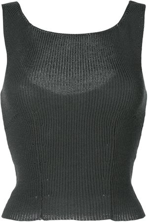 Comme des Garçons 1997 cropped knitted tank