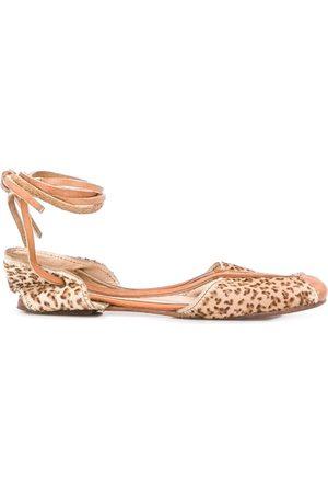 Kenzo 1980's leopard print ballerina shoes