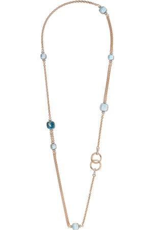 Pomellato 18kt white and rose gold Nudo topaz and diamond necklace