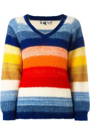 KANSAI YAMAMOTO Contrast stripe V-neck jumper