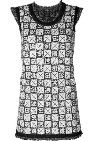 CHANEL Sequinned knitted dress