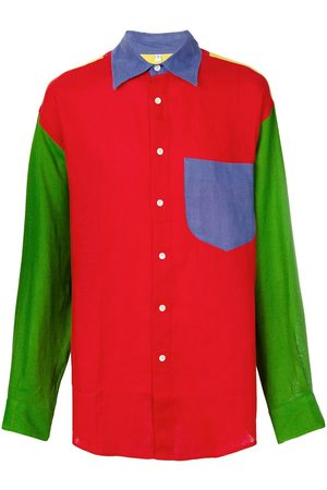 JC DE CASTELBAJAC Colour-block panelled shirt