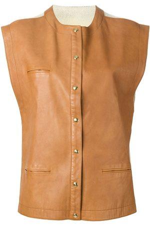 Roberta di Camerino Pre-Owned Leather panel waistcoat
