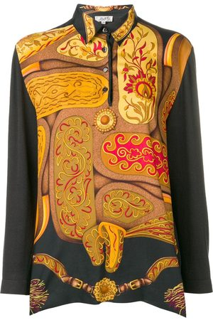 Hermès Abstract longsleeved polo shirt