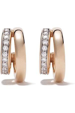 Pomellato 18kt rose Iconica diamond earrings
