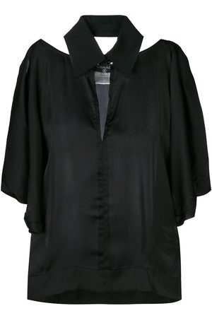 CHANEL 2000 cut-out collared blouse