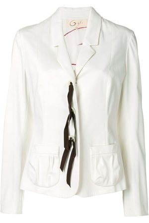 ROMEO GIGLI Lace-up fitted blazer