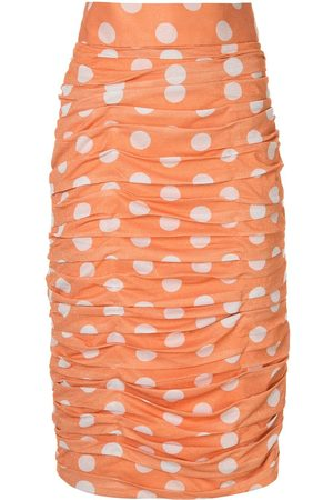 Bambah Polka dot ruched skirt