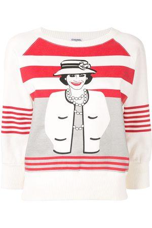 CHANEL Mademoiselle Chanel cropped sleeves sweatshirt