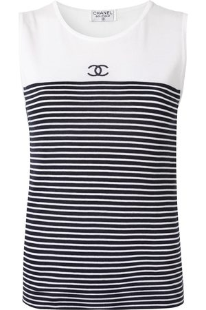 CHANEL Striped tank top