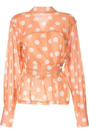 Bambah Polka dot wrap blouse