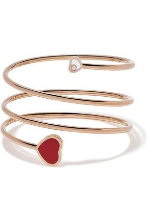 Chopard 18kt Happy Hearts diamond and red stone bangle