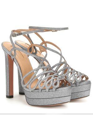 Aquazzura Monroe Plateau 130 glitter sandals
