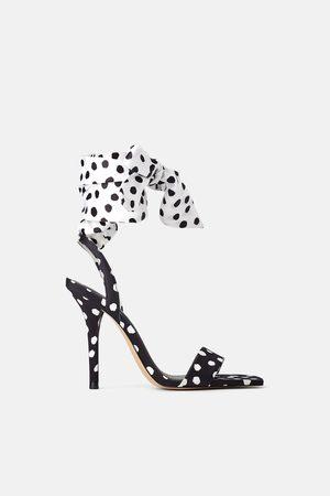 Zara Polka dot high-heel sandals