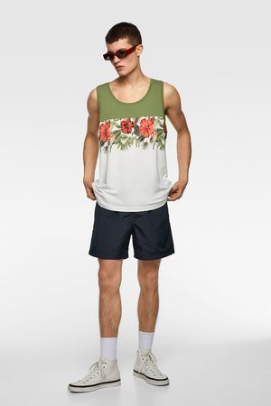 Zara Contrast floral print tank top