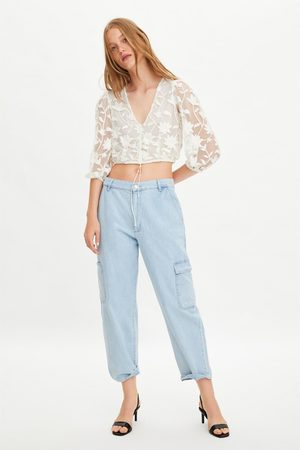 Zara Women Shirts - Embroidered tulle shirt