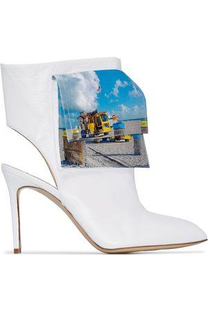 Natasha Zinko Beach trash logo ankle boots
