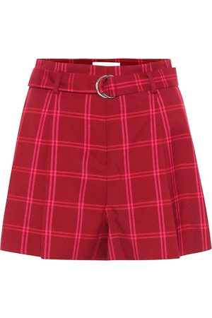 JONATHAN SIMKHAI Women Shorts - High-rise checked shorts
