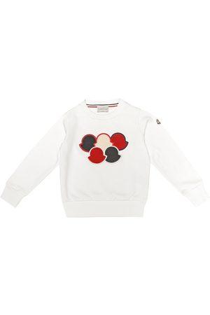 Moncler Girls Pants - Embroidered cotton sweatshirt