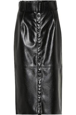 Msgm Faux leather midi pencil skirt