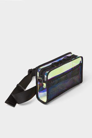 Zara Vinyl crossbody belt bag