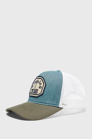 Zara Contrast patch cap