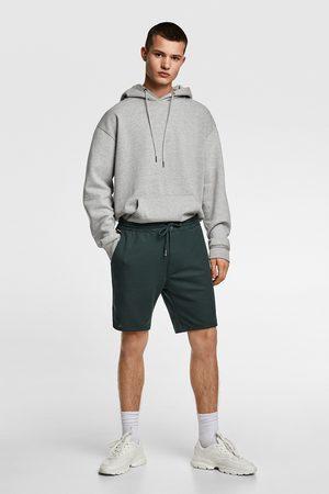 Zara Piqué bermuda shorts