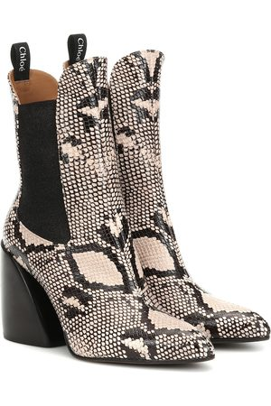 Chloé Exclusive to Mytheresa – Wave snake-effect ankle boots