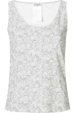CHANEL CC logos sleeveless top