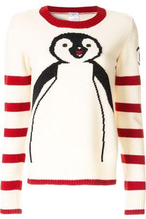 CHANEL Long sleeve penguin knit sweater