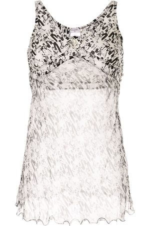 CHANEL Camellia Mademoiselle motif sleeveless top