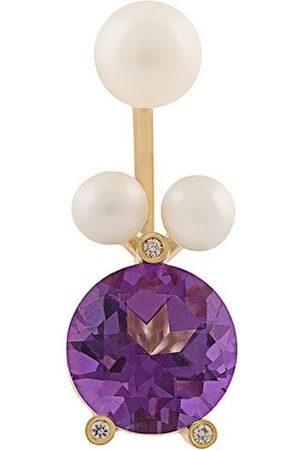 DELFINA DELETTREZ Magic Triangle Pearl Piercing' diamond ring
