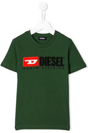 Diesel Boys Short Sleeve - Logo embroidered T-shirt