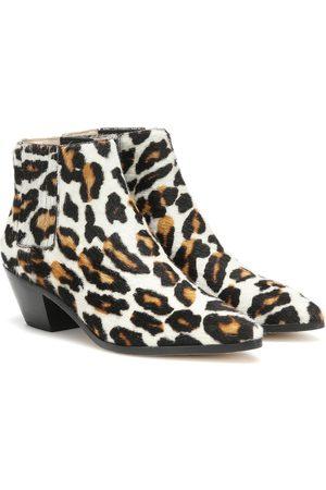 Nanushka Risa calf hair ankle boots