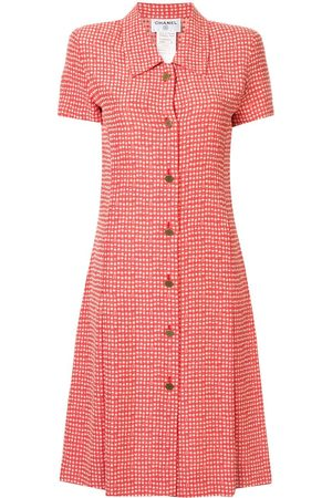CHANEL Checked shirt dress