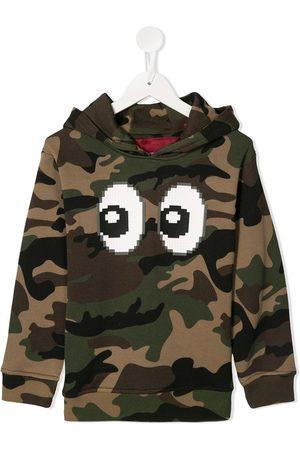 MOSTLY HEARD RARELY SEEN Eyez print camouflage hoodie