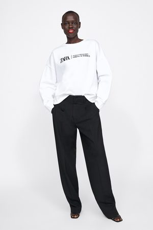 Zara Embroidered logo sweatshirt