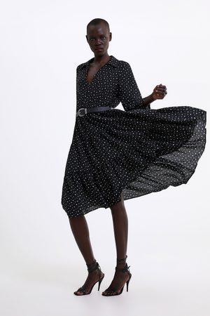 Zara Polka dot dress with belt